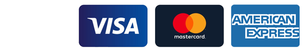 We accept Visa, Mastercard, American Express and JCB